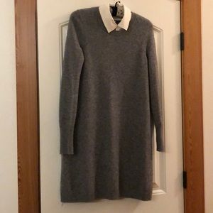 Joie Sweater Dress with White Collar, Size XS